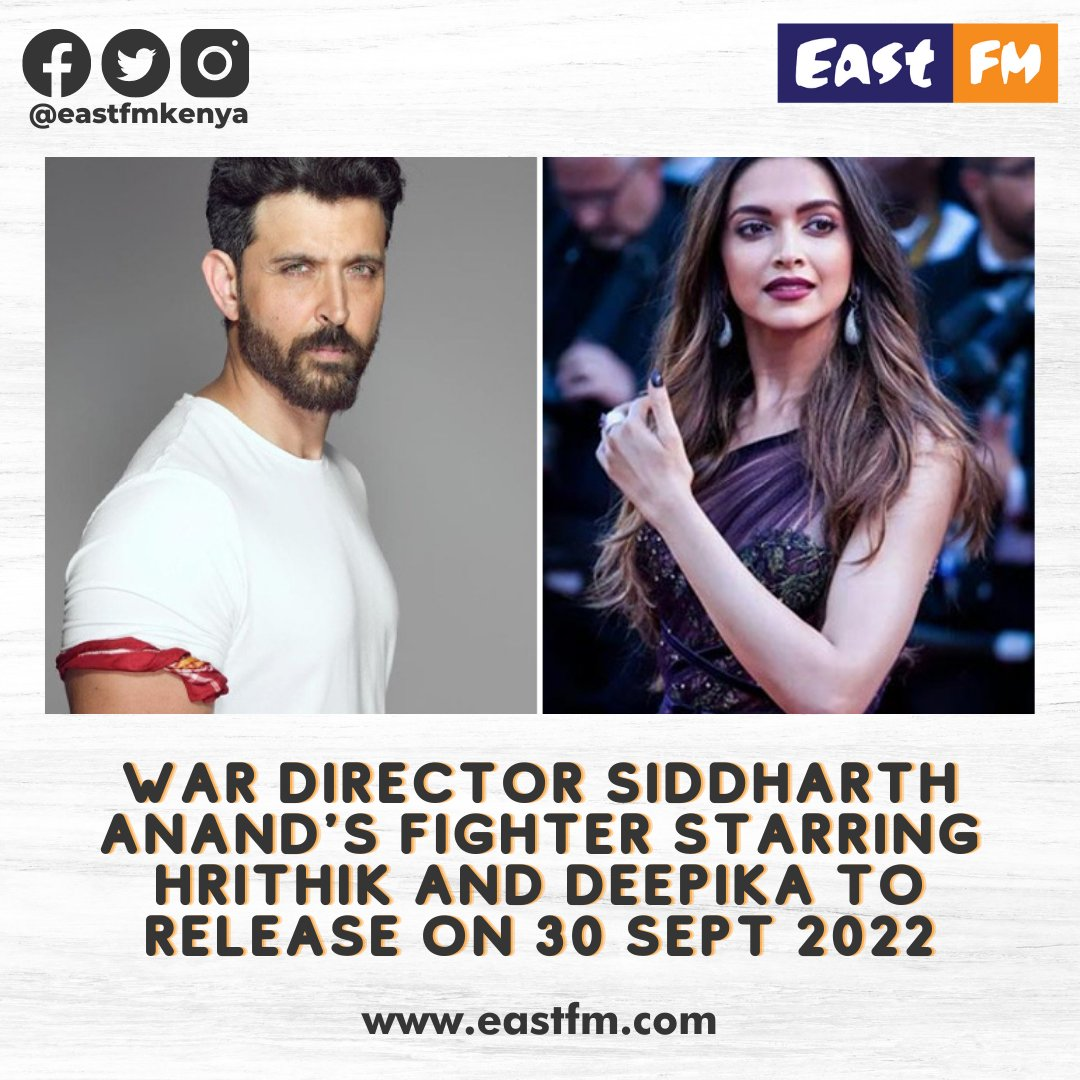 #Pathan  and #Fighter, two bac to back collaborations from #SiddharthAnand and #DeepikaPadukone. How many cant wait for this on with #HrithikRoshan? • • • • • #Bollywood #EastFm