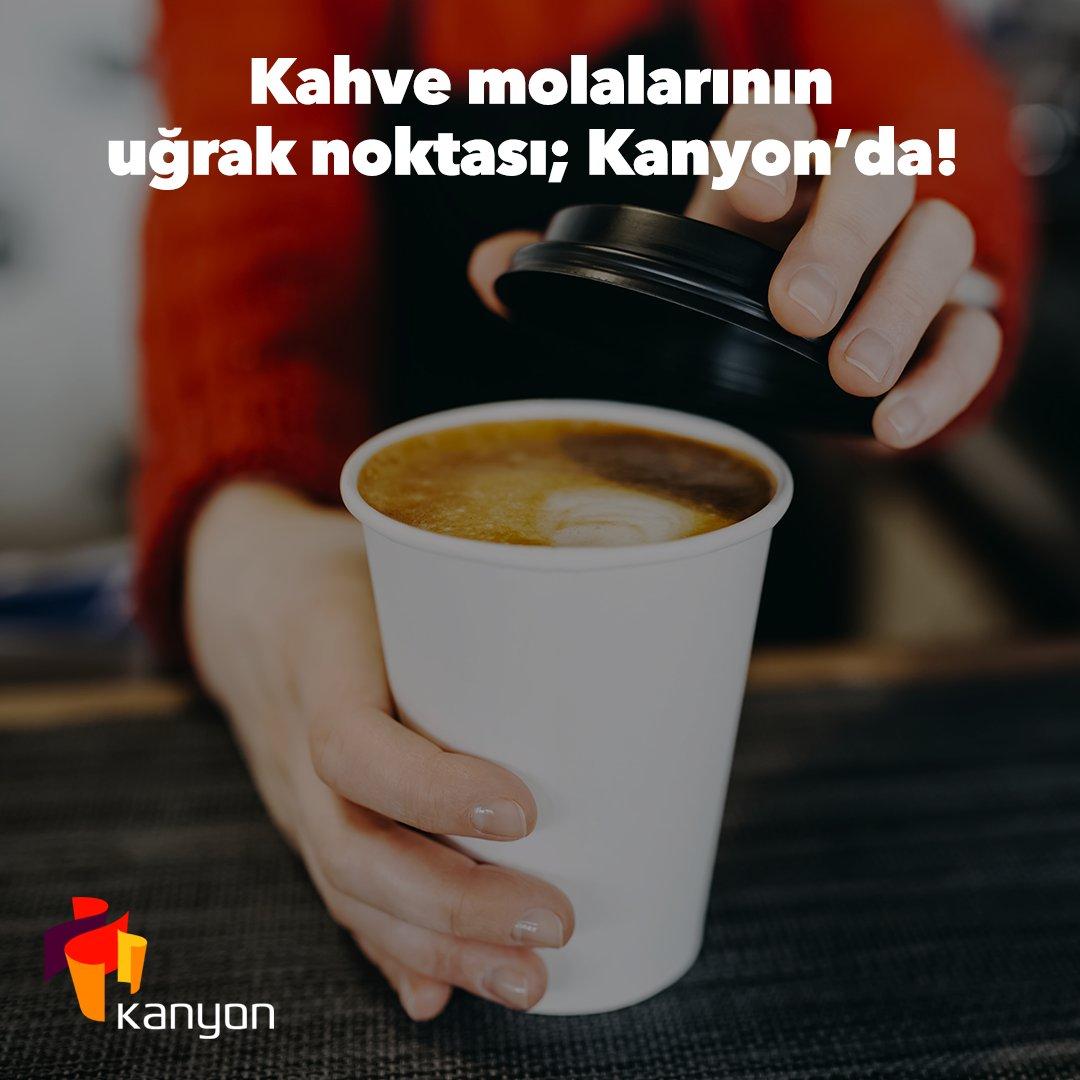 Kahve içmeden çalışamıyor dikkatinizi toplayamıyorsanız, öğle molalarınızda Kanyon'a uğrayarak kahvenizi alabilirsiniz.  #işgyo #isgyo #kanyon #levent #kanyonda https://t.co/H4nDuoZ94w