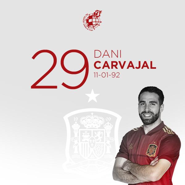 🎂 ¡¡FELICIDADES, @DaniCarvajal92!!  ⚽️ El lateral diestro del @realmadrid y la @SeFutbol, internacional en 25 ocasiones, cumple 29 años.  🥳 ¡¡DISFRUTA DE TU DÍA!!