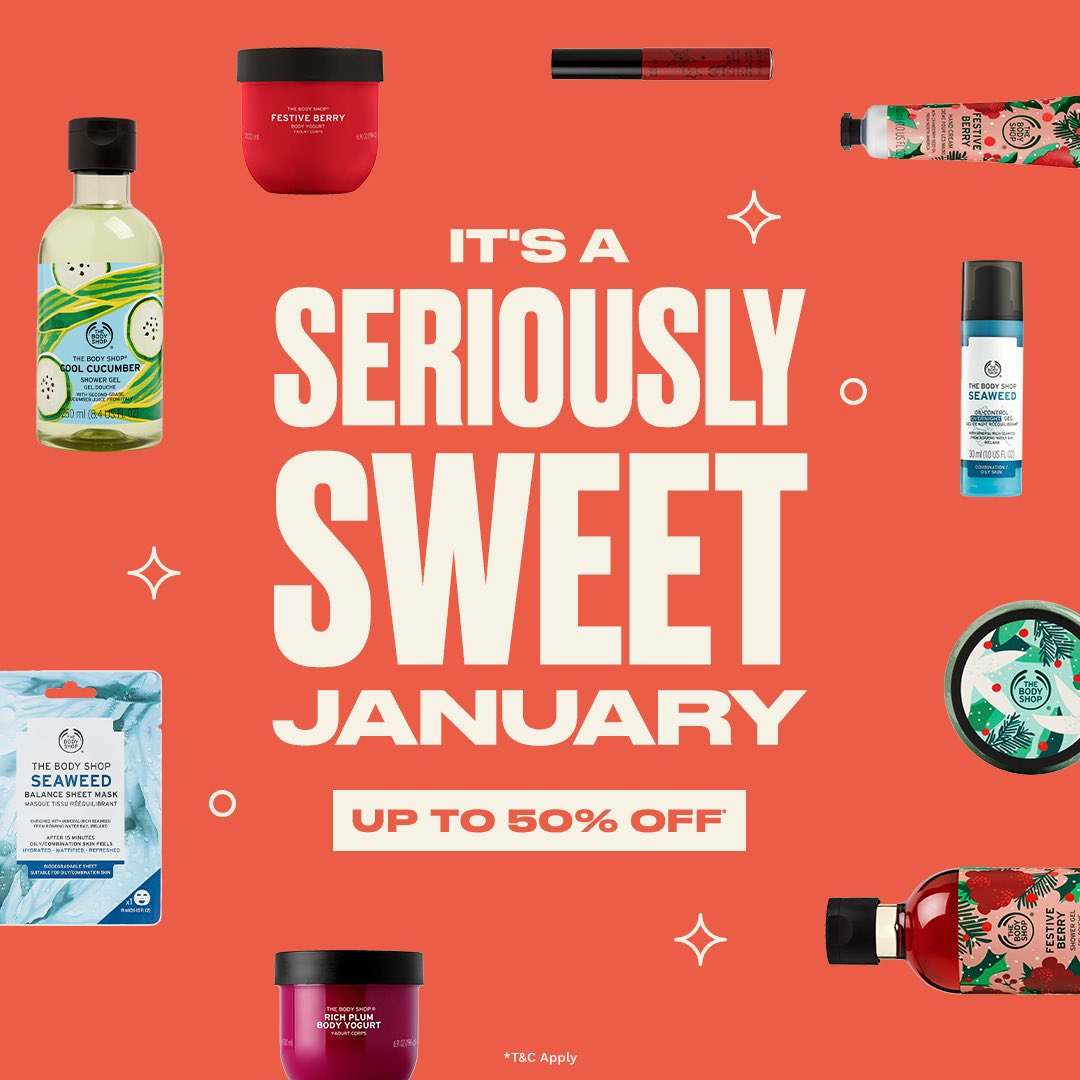 Get up to 50% OFF on your favourite treats in our Seriously Sweet End of Season Sale! Our range of skin, hair, body and beauty products are up for grabs at #Saletastic deals. Shop Online , in-store or home delivery call +917042004412 #TBSInd #Discount