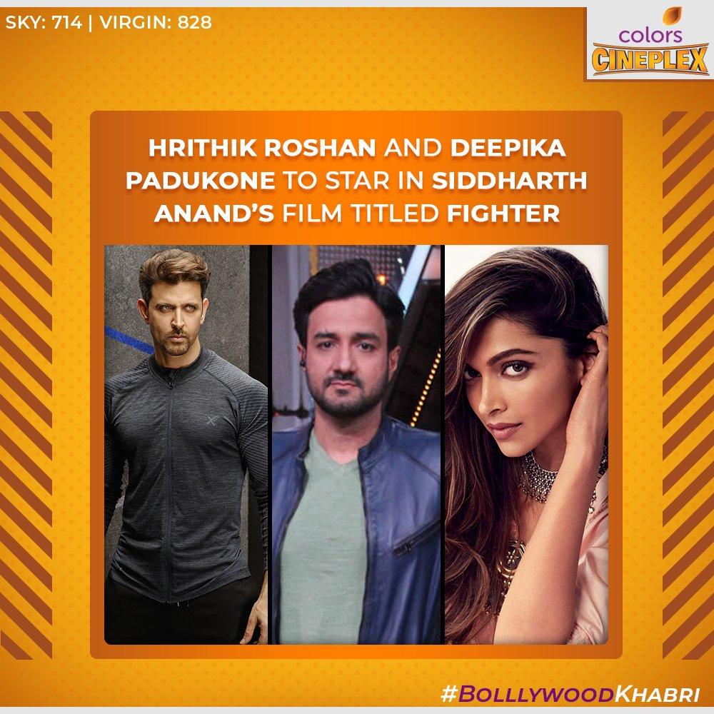 This is something to look forward to! Isn't it? 🤩 @iHrithik @deepikapadukone @HrithikRules @DeepikaPFC   #ColorsCineplex #AaoKabhiCineplexPe #BolllywoodKhabri #HrithikRoshan #DeepikaPadukone #SiddharthAnand #Bollywood #BollywoodMovies #Movies