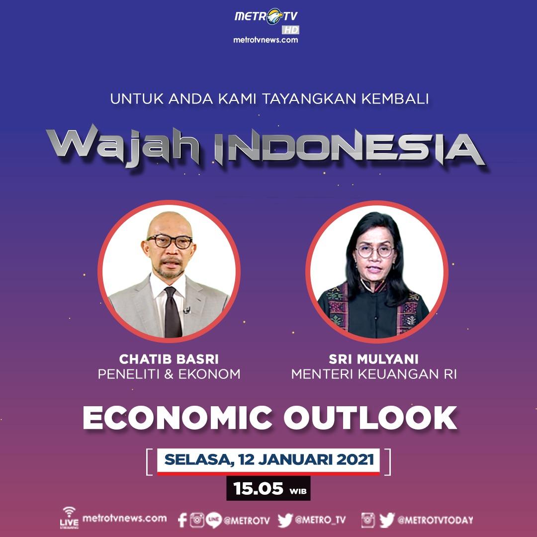 """Menurut prediksi 2 ekonom ini, kondisi ekonomi menuju 2021 adalah keran aktivitas ekonomi telah dibuka namun responsivitas masyarakat cenderung melemah. Apa yang bisa dilakukan? Selengkapnya di #WAJAHINDONESIAMETROTV """"Economic Outlook"""" hari Selasa (12/1) pukul 15.05 WIB."""