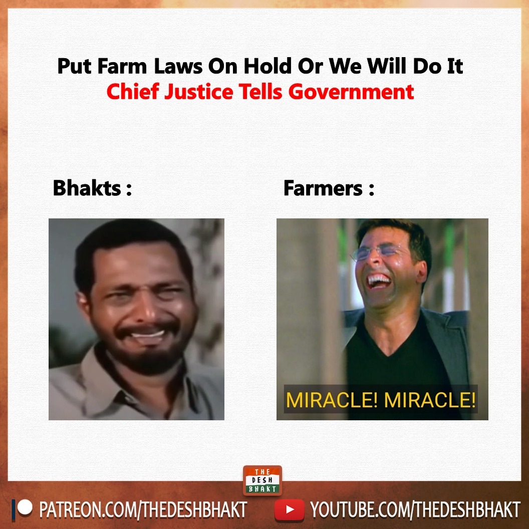 #FarmersProtests now in the #SupremeCourt - what's the catch? (via #TeamDeshbhaklt / @vedangsati)