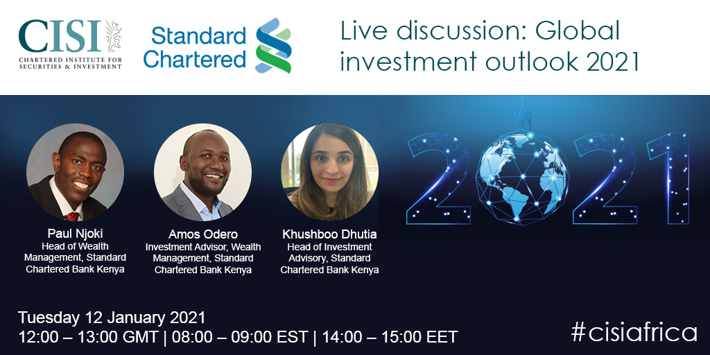 There is still time to make sure you do not miss out on this insightful event: https://t.co/eP6xIUTRu6   Hosted tomorrow with @StanChartKE, a brilliant panel will explore the 2021 #globalinvestment outlook. https://t.co/agXIqyzg7N