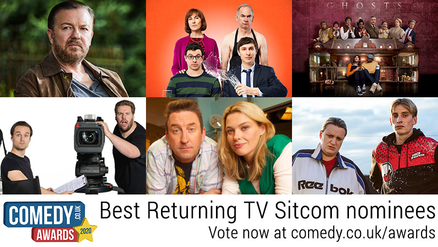 Best Returning TV Sitcom 2020 nominees: After Life; Friday Night Dinner; Ghosts; The Goes Wrong Show; Not Going Out; This Country. Vote: