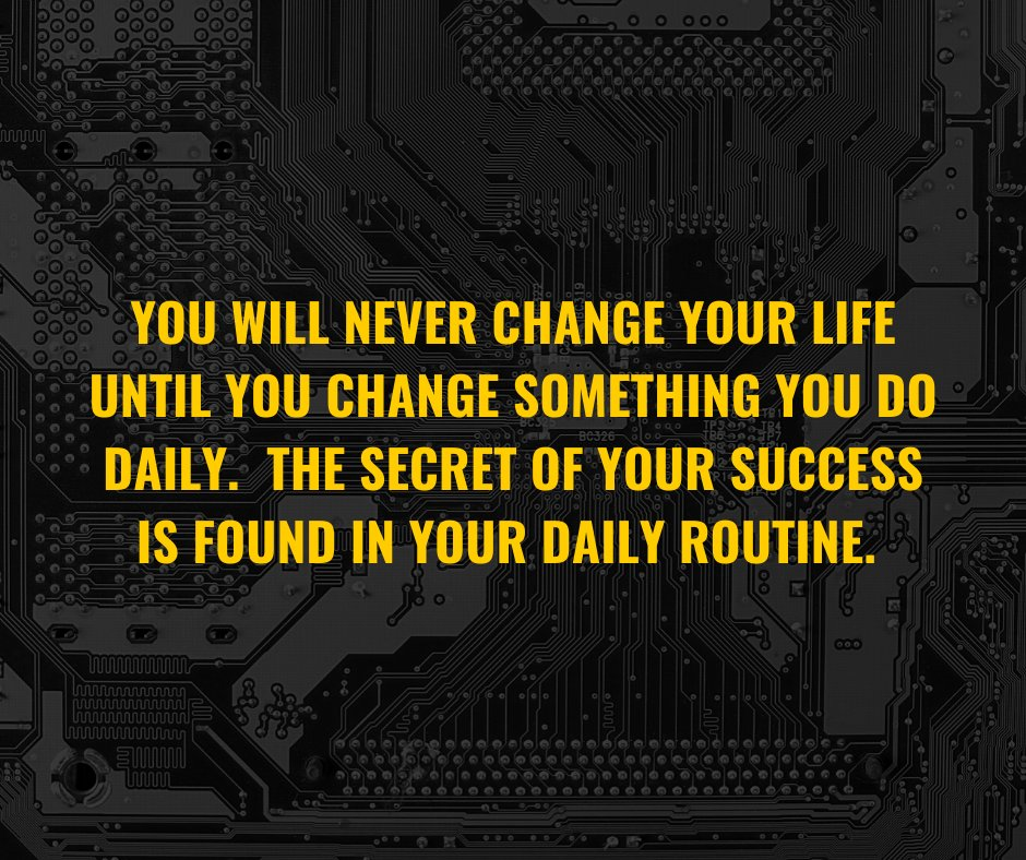 We are what we do – day in and day out.  A change in bad habits leads to a change in your life. #MondayMotivation #mondaythoughts #MondayMorningMotivation #quote