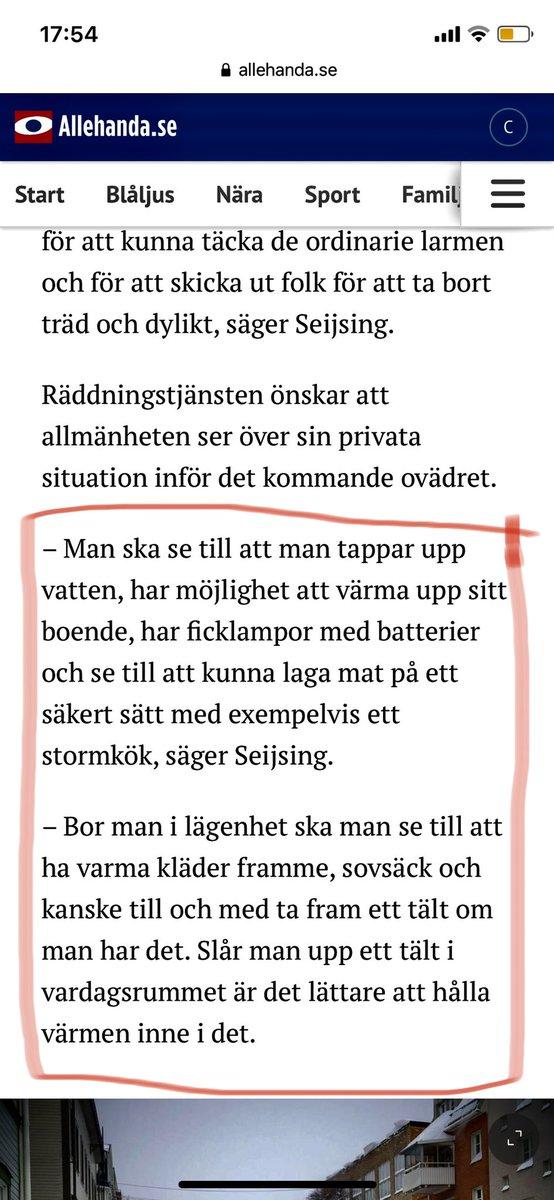 Lokala tidningen med en uppmaning till befolkningen i Örnsköldsvik som bor i lägenhet att rusta sig för snön. https://t.co/Rbp4e1lU8a