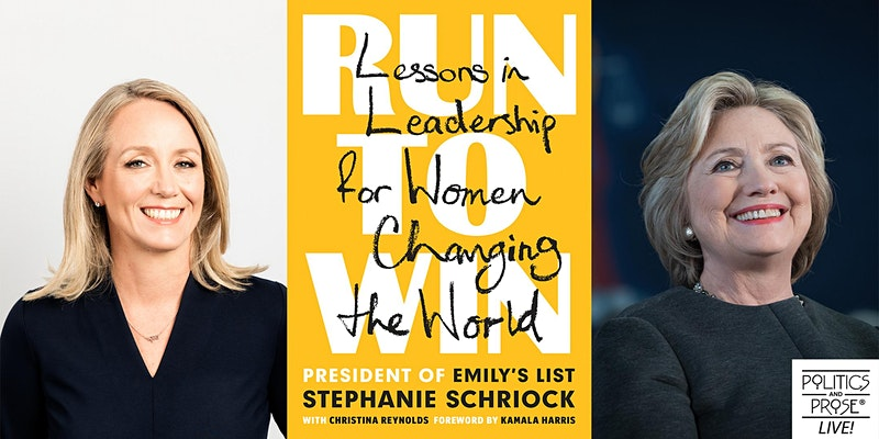 For the good of our country, we need more women to step up as leaders.   Join @schriock1 and me tomorrow to talk about her new guide to running and winning—within the political arena and without.