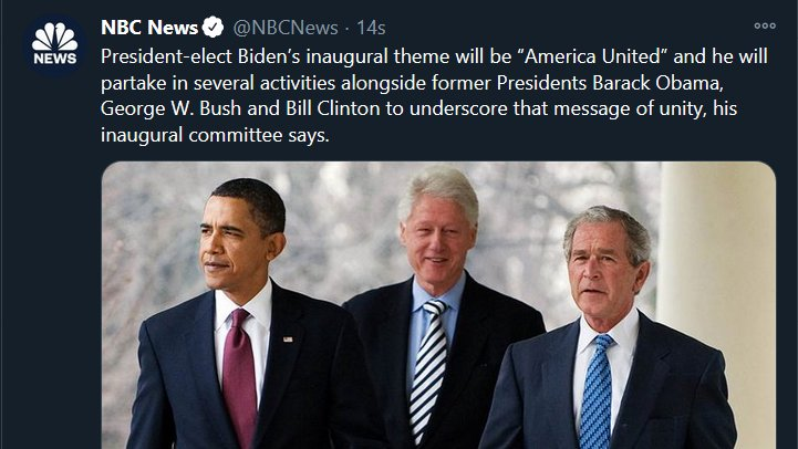 """I'm old enough to remember when George Bush was the most hated man on the planet (and with good reason). Nothing says """"America United"""" like a public display of fraternity between war criminals. Class solidarity has always been the elites' strong suit."""