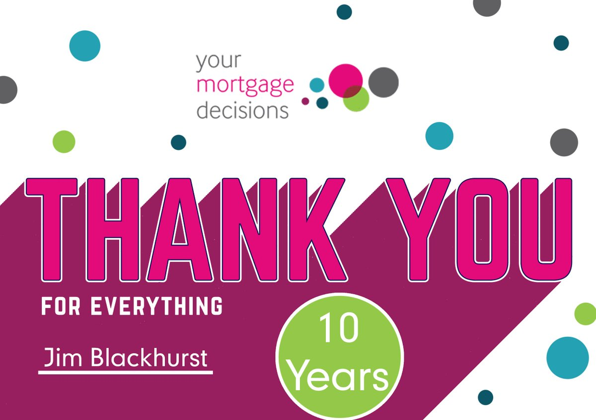 Wishing a very happy 10 year anniversary to Jim Blackhurst. Thank you for everything you have done for the YMD family and we hope to have you for at least another 10 years. #WelllDone #thankyou #anniversary #10years #10yearanniversary #mortgage #mortgages