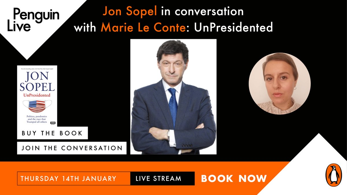 Hello hello! Going to be chatting to @bbcjonsopel about his new book UnPresidented on Thursday evening, get a copy of the book and a ticket for the event here: