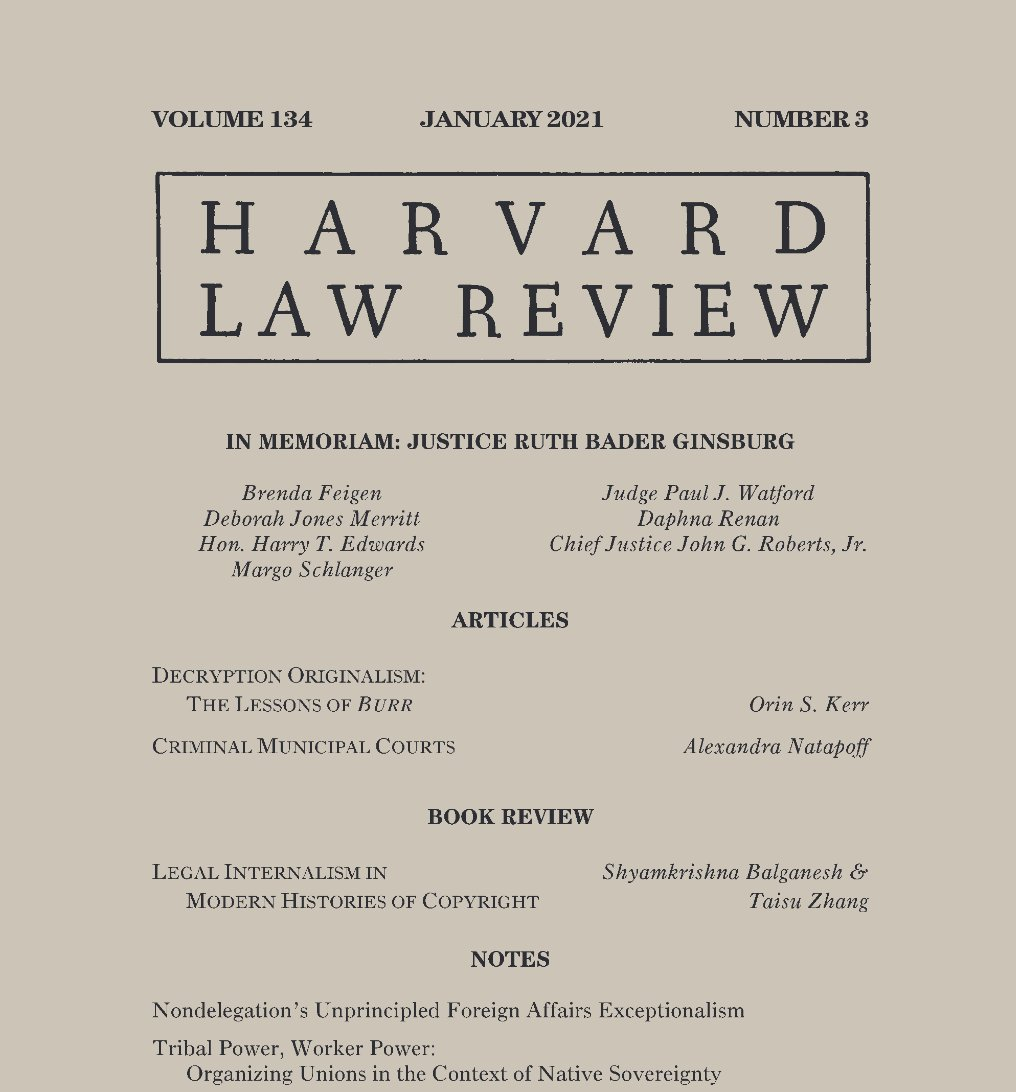 Replying to @HarvLRev: New year, new issue.🤩 Check out the January 2021 Issue on our website!