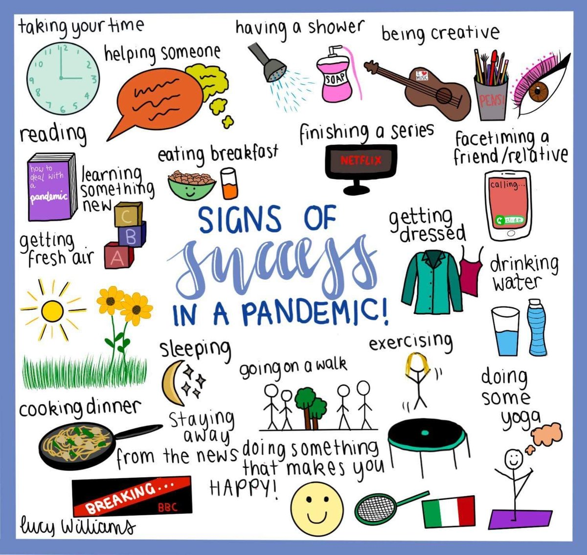 Great advice from Lucy here. Success might look a little different at the moment. Taking care of yourself in small ways every day is important for us all right now #healthylifestyles #selfcare #freshair #exercise #breakfast #creativity #signsofsuccess