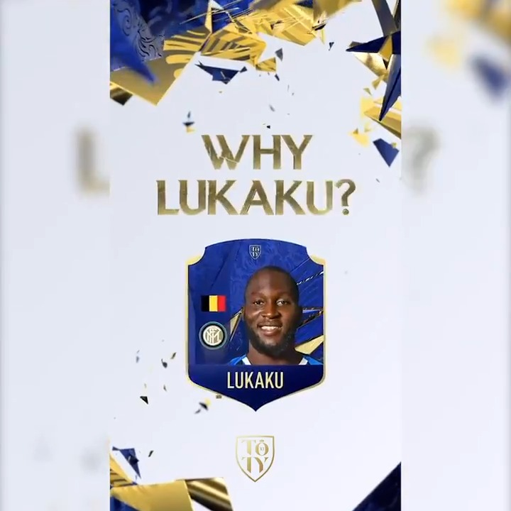 💪   BIG ROM  ⚫🔵 @RomeluLukaku9 is unstoppable!   Here's why he should be in the @EASPORTSFIFA #TOTY! 👇  Vote for him now ➡   #FIFA21