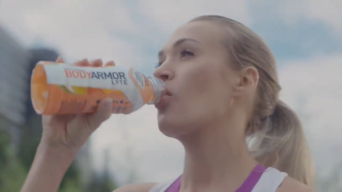 There's more to @CarrieUnderwood. And there's more to BODYARMOR LYTE.  Welcome to #TeamBODYARMOR, Carrie! #MoreThanASportsDrink 💪💪 @JHarden13