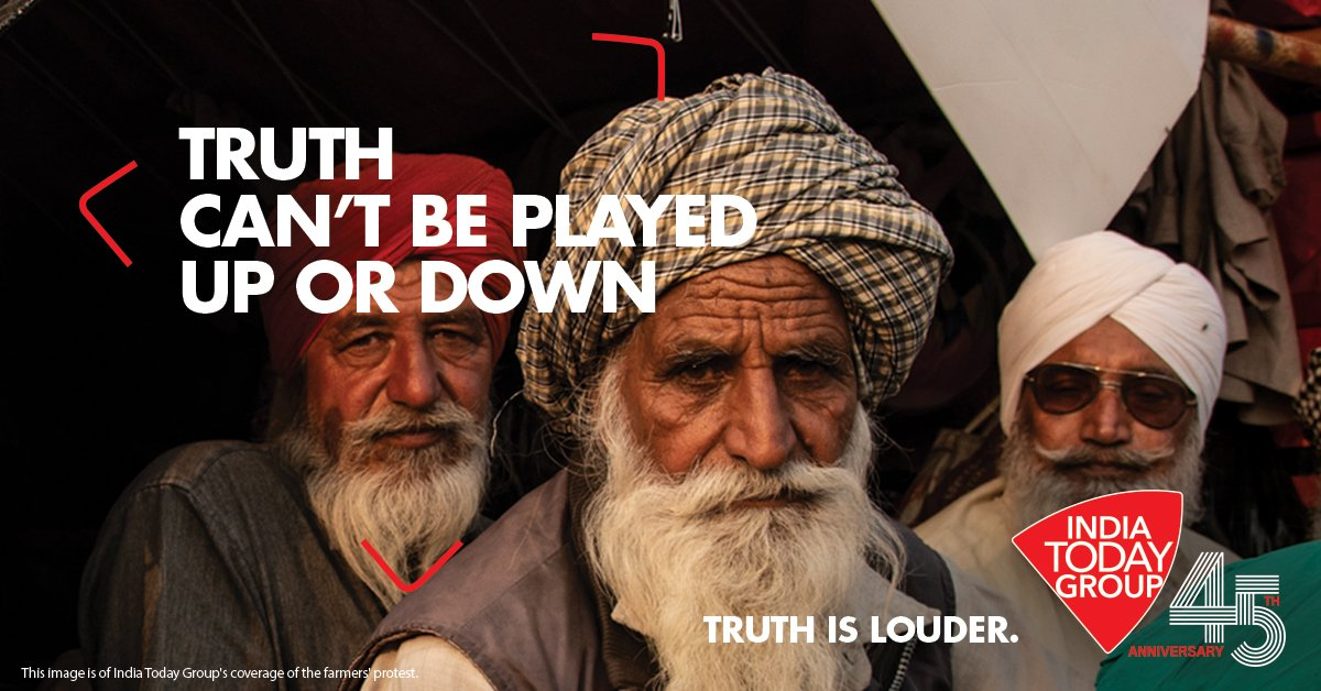 @JayminSOfficial Truth is louder. It cannot be played up or down   #IndiaTodayGroupAt45