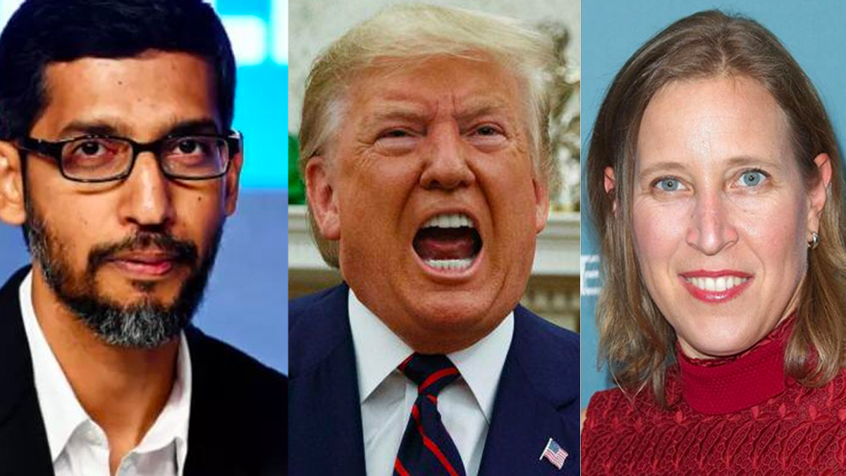 Virtually every social media company has removed Trump...EXCEPT YouTube.  Trump's YouTube channel is STILL showing videos of his election lies to MILLIONS of people!  Retweet and tell @Google, @sundarpichai, @YouTube, @SusanWojcicki--do the right thing!     #BanTrumpSaveDemocracy