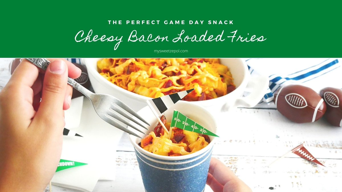 Who doesn't love Cheesy Bacon Loaded Fries for game day? Recipe . Only 4 @KraftHeinzCo ingredients needed get them @Walmart along with Vanity Fair Napkins & @DixieProduct for easy serving & cleanup. Plus check out tips for leftovers. #ad #WalmartBigGameMVPs