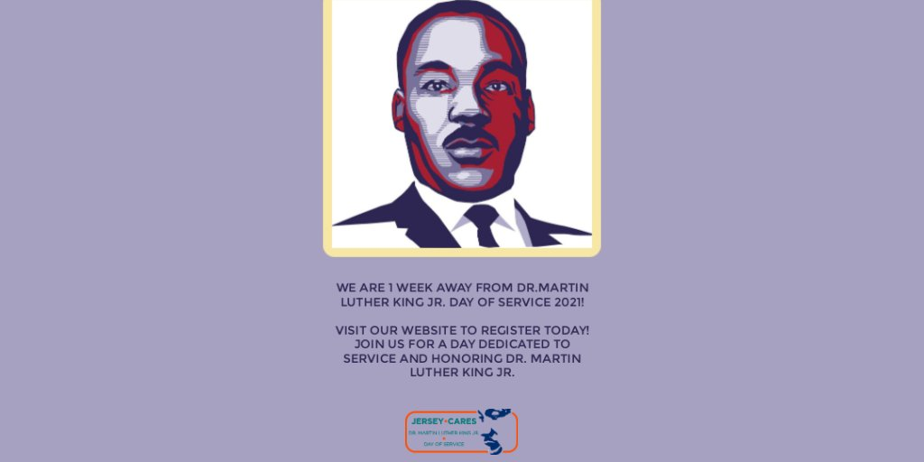 #MLKDay day is a week away, and if you're looking for #SocialJustice resources or ongoing #volunteer opportunities, including for #CSR programs, @JerseyCares is a good organization to keep in mind. #MondayMotivation https://t.co/v9JBM5ivSC