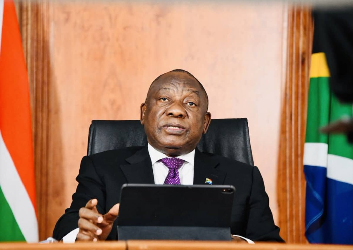 Watch live: Ramaphosa to address the nation on Monday 11 January 2021 https://t.co/PKSw7NiW22 https://t.co/erkAOwHkMp
