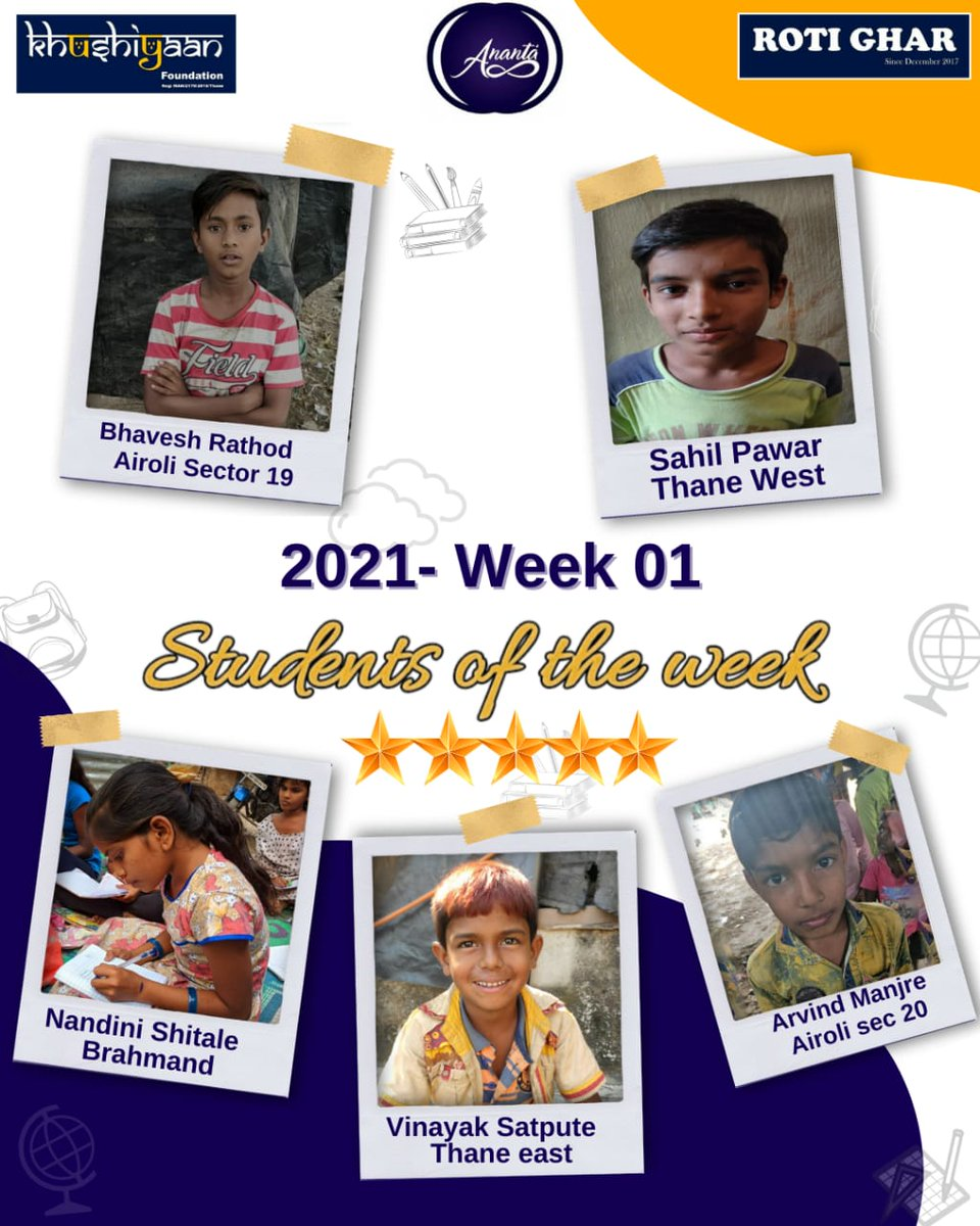Killing the #MondayBlues with this #MondayMotivation !  2021 is the year to grow & the team at @RotiGharIndia are trying hard to help these talents from urban slum to live their dream.  #StudentsOfTheWeek #Week01   @AUThackeray @priyankac19