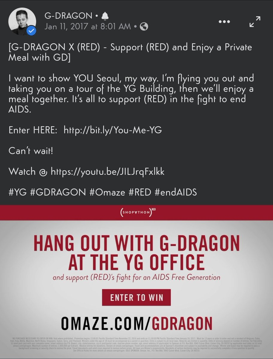 Okay guys, does anybody knows who won this once in a lifetime opportunity????  #GDRAGON #GDRAGONXRED #OMAZE #MYSTERY #4YEARSAGO