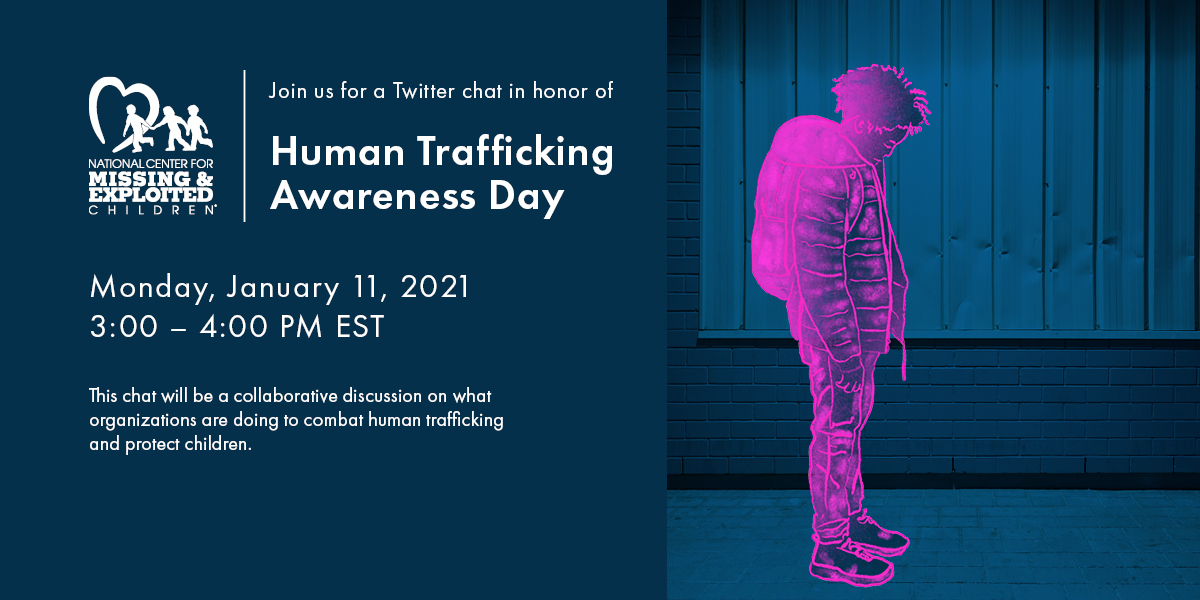 Join us here at 3pm ET for a #HumanTraffickingAwarenessDay discussion #EndTrafficking