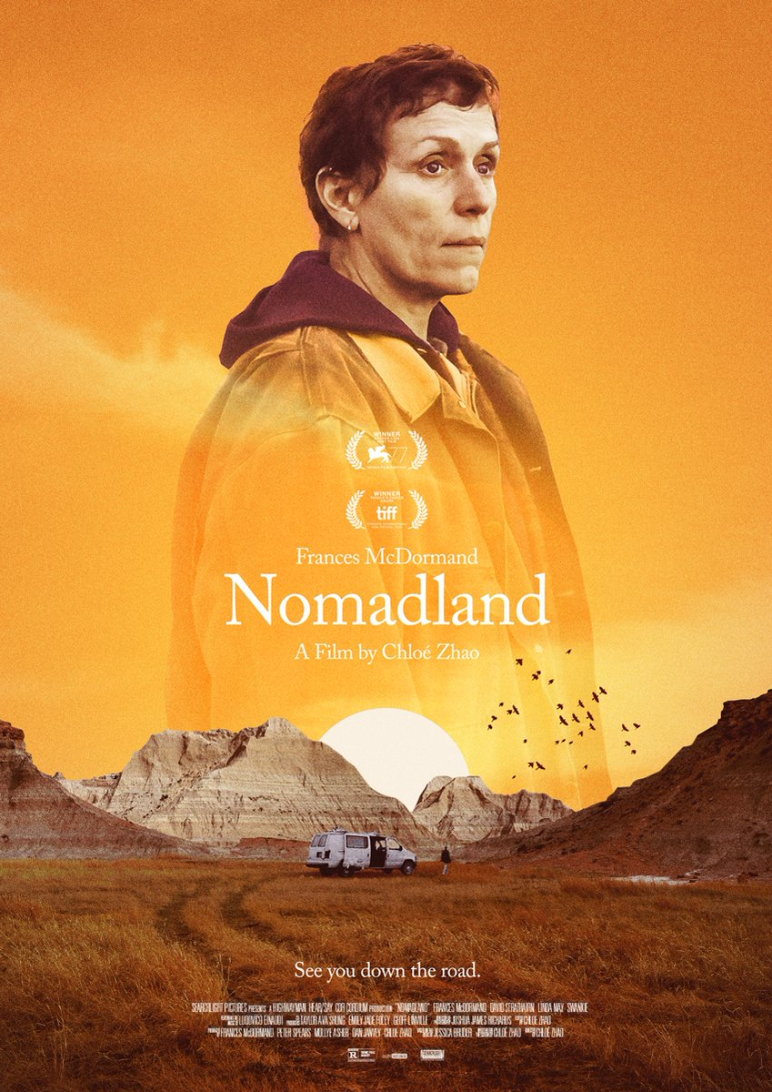 """PosterSpy.com on Twitter: """"🚀Kick start your week with our  #MondayMotivation: featured this week is """"Nomadland"""" uploaded by  @SnollygosterPrd. Beautiful poster 🔥. Check out this week's round-up which  includes posters for Soul, The"""