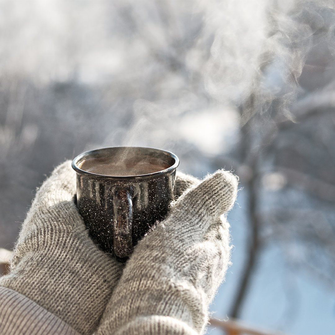 Did you know that a freshly brewed mug of #LaughingManCoffee also functions as a hand warmer? One thing is for sure, it will be the most delicious hand warmer you've ever tasted.  . . . . . #AllBeHappy #WinterVibes #HughJackman #Coffee #NYC #Tribeca #CoffeeLover #KeepWarm