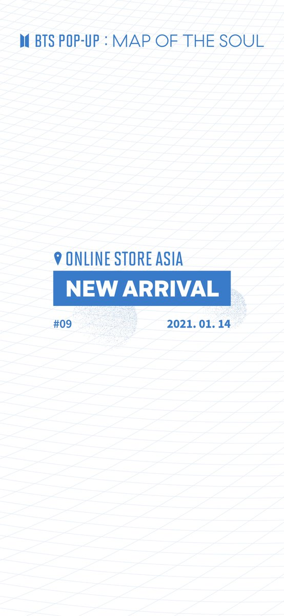 [BTS POP-UP: MAP OF THE SOUL Online Store ASIA]     NEW ARRIVAL #9  Information on the products for the 9th Session of BTS POP-UP Online Store ASIA    10AM, January 14, 2021 (SGT)    👉 Link :     #BTS
