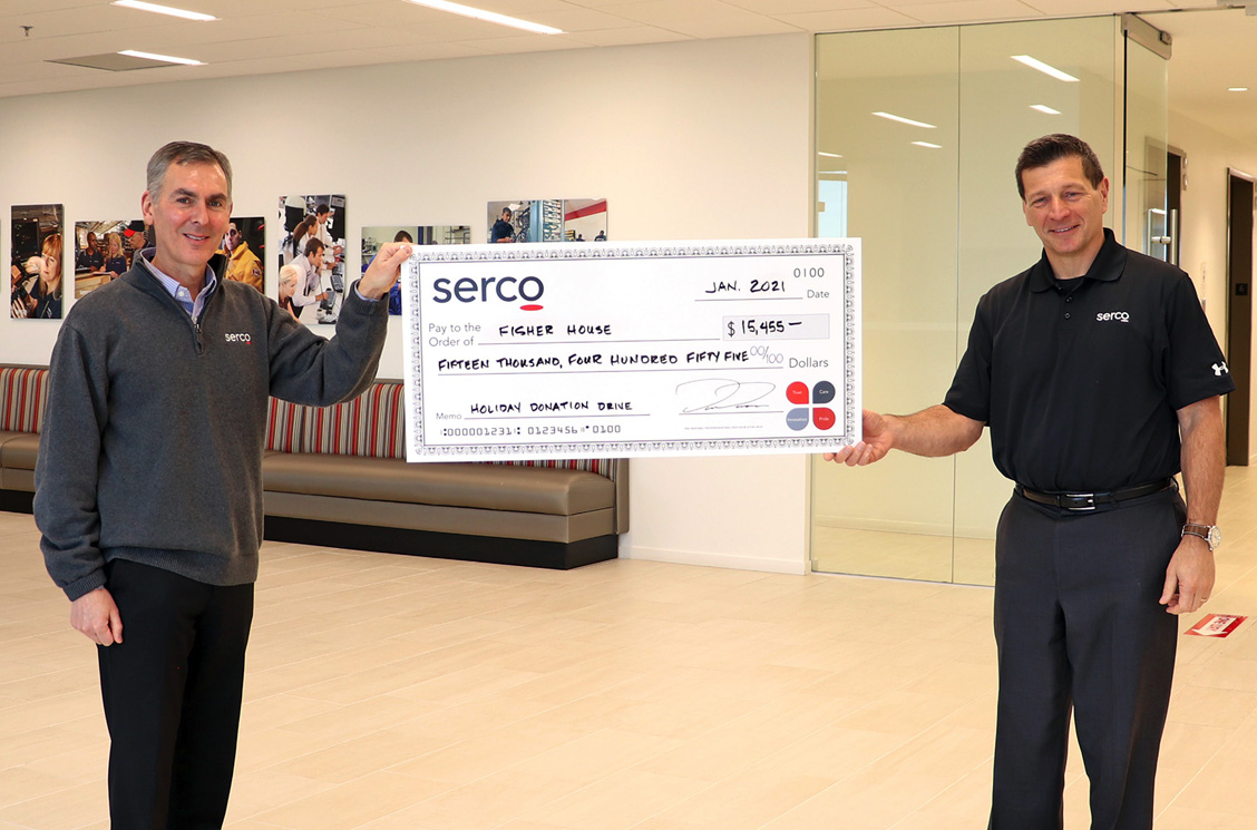 @FisherHouseFdtn does great work for Veterans & their families. Serco employees showed their support for this great organization in our recent fundraiser. Way to go, Colleagues!   #sercoandproud #Veterans #giveback