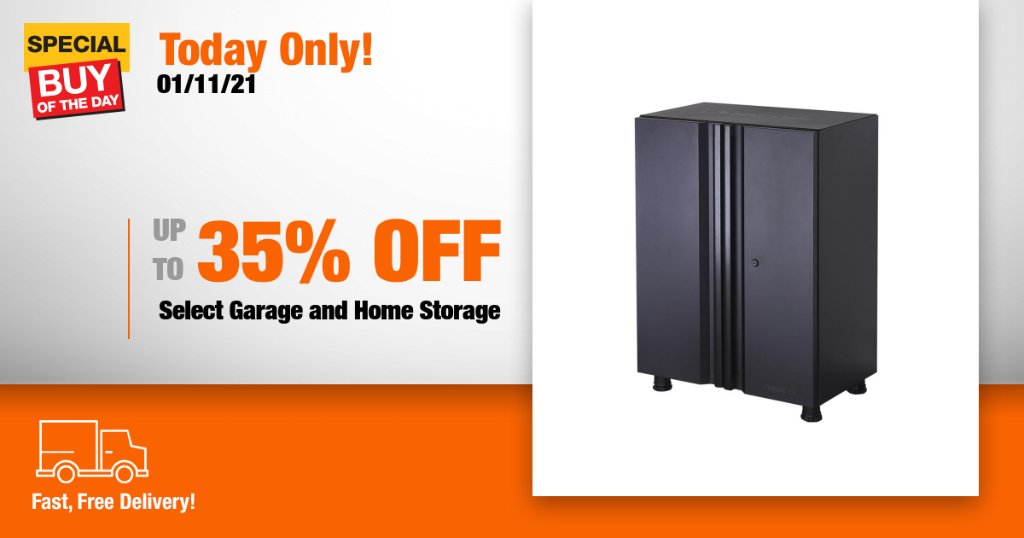 Explore durable organization solutions with savings on select garage and home storage from Home Depot's online only Special Buy of the Day! https://t.co/ZYGpK5mA7W https://t.co/Gq4HsYwQd7