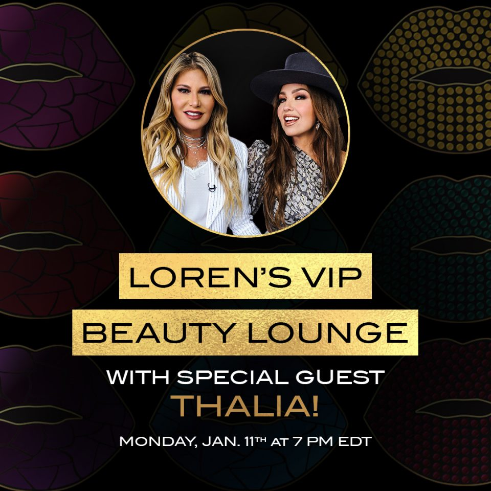 The zoom you don't want to miss with @lorenridinger VIP Beauty Lounge with the Queen of Latin pop @thalia begins tonight at 7PM. Register now! #beautylounge #thaliaxmotive