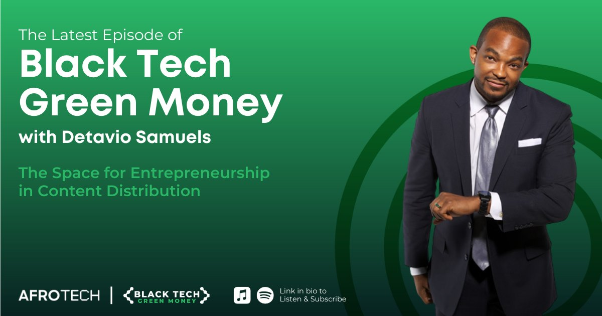 Co-Head of Revolt Media & TV @Detavio stopped by the #BlackTechGreenMoney podcast & dropped some serious career lessons with our guy @will_lucas 🙌🏿 ⠀ Listen in on the gem-filled discussion about the space for entrepreneurship in the media industry + more!