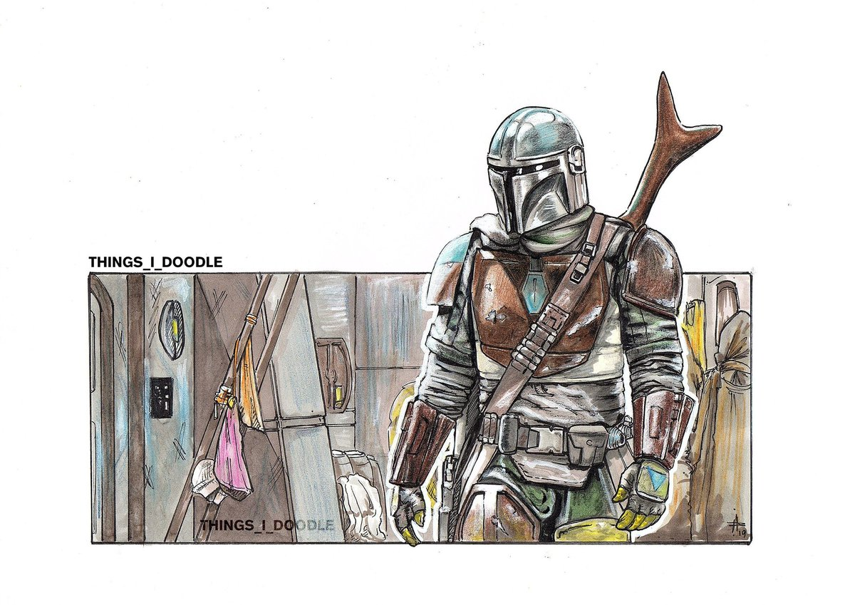 #mandomonday  Mandalorian / Star Wars fan art print. Currently HALF PRICE! . . PRINTS AVAILABLE . . #etsy #thingsidoodle #etsyfinds #etsygifts #etsysale #shopsmall #MANDOMONDAYS