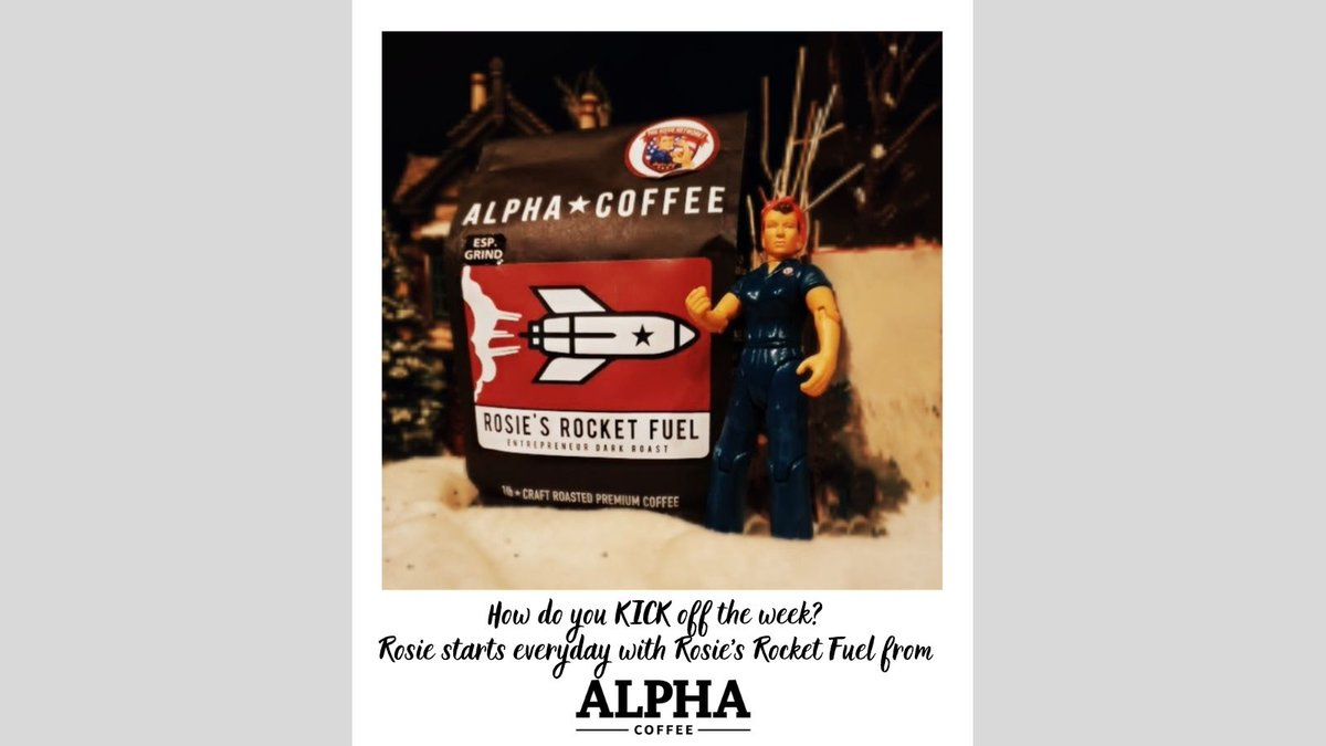 Monday Monday..... How do you KICK start your week?  Check out ROSIE'S ROCKET FUEL - ENTREPRENEUR DARK ROAST from @thealphacoffee.  It's Rosie approved!   Purchase Rosie's Rocket Fuel at ...   #rosieacrossamerica  #entrepreneur  #militaryowned