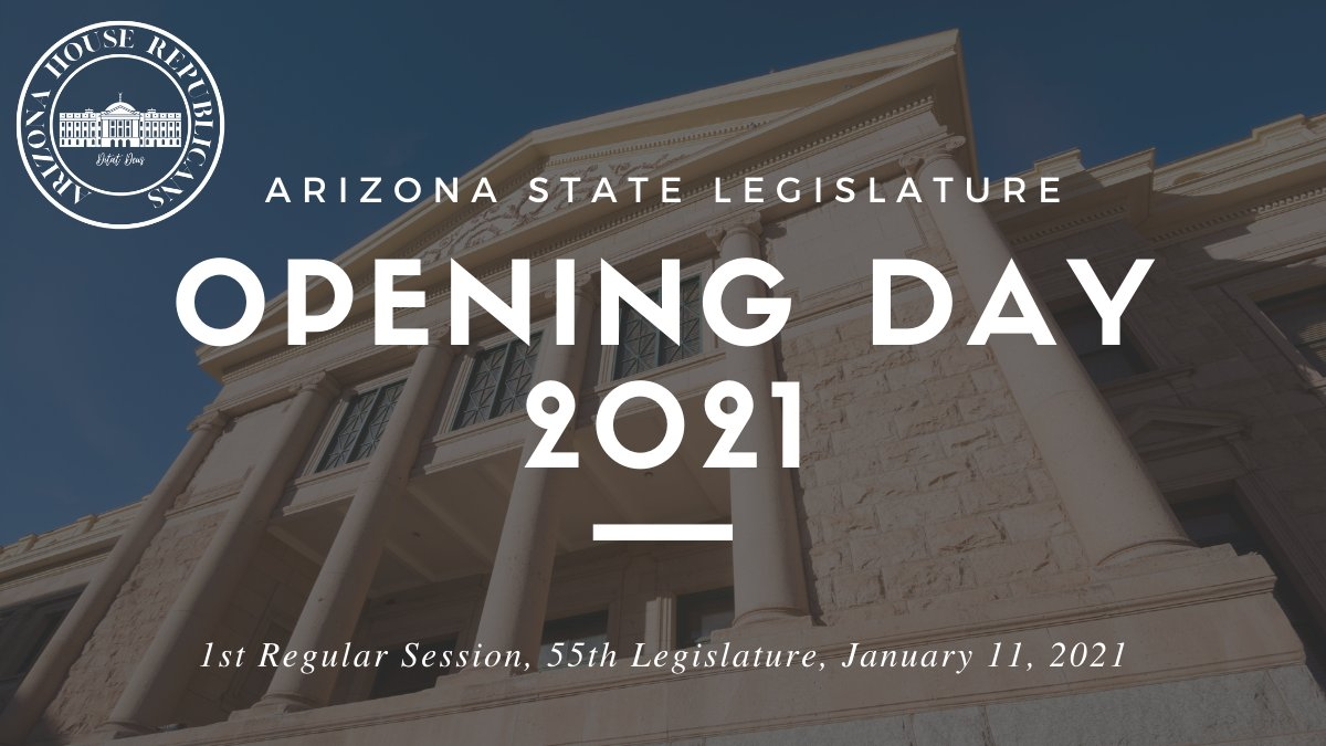 The Arizona House of Representatives welcomes you to watch the opening day of Arizona's 55th Legislature. The House gavels in at 12:00 PM and the Governor's State of the State Address will begin at approximately 2:00 PM. Tune in & view it all here:  #AZleg