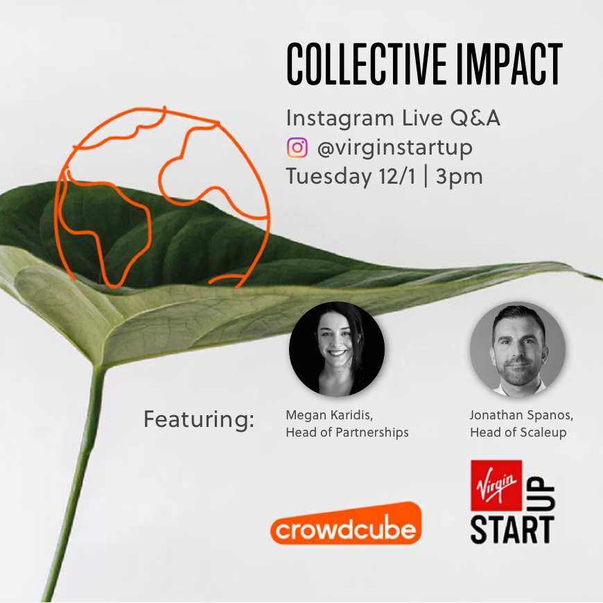 🚨Tomorrow at 3pm we're going Live on Instagram with @Crowdcube to answer your questions about our investment-readiness programme, Collective Impact. Leave your questions below, set your alarms and find out more about Collective Impact here:   #crowdfunding