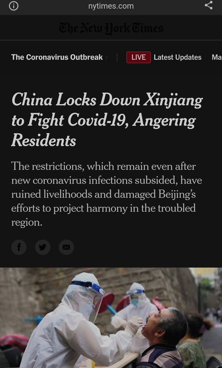 China and Singapore have done the same thing to keep out the virus.   Look at how NYT reports differently on these two countries.