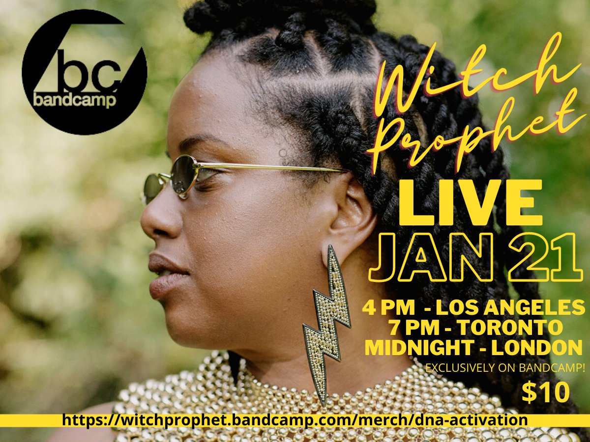 I really LOVE @Bandcamp and now it's official!! THEY LOVE ME TOO! Come peep this high key exclusive live stream performance Jan 21st on my bandcamp page! Tell all your booking agent, record label and artist management friends.