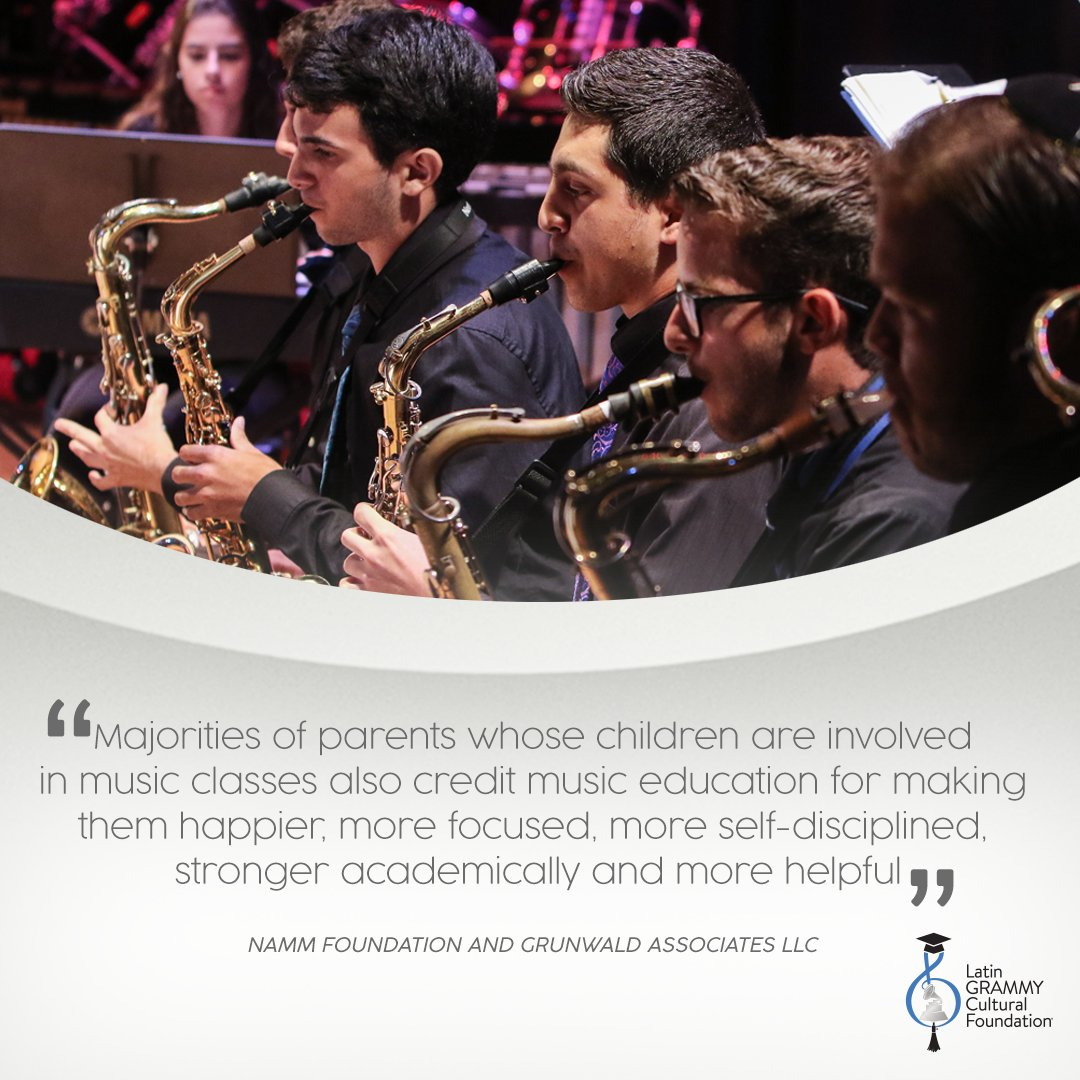 Music education is an important part of our lives. Support your local school music program by volunteering, donating music instruments and attending local concerts! 🎵💙 #MusicMonday Support Music Makers of Tomorrow #LatinGRAMMYFoundation