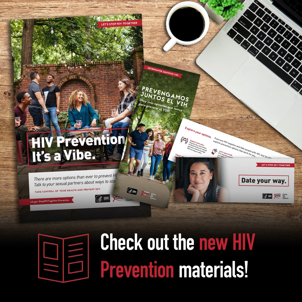 Visit our website to check out our new #HIVPrevention materials to help #StopHIVTogether!  Let us know what you think below ⬇️:
