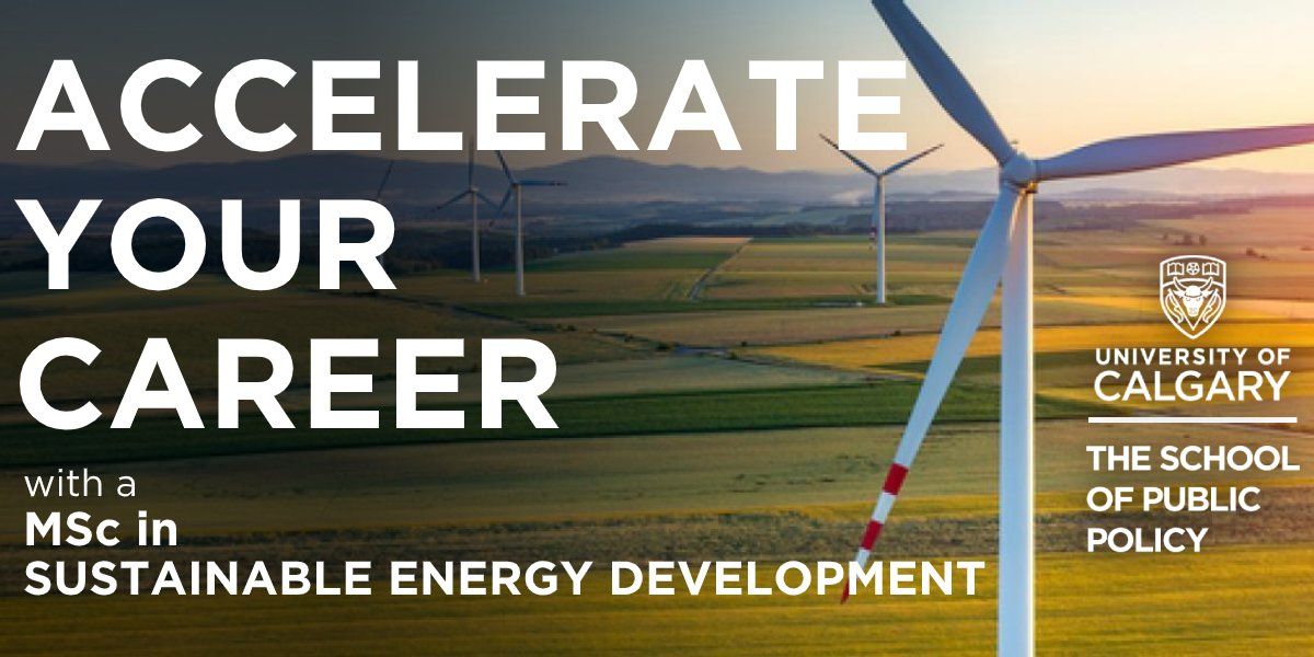 Ready to accelerate your career? Join us on January 14th for an information session about The Sustainable Energy Development Master program! Register now to learn more about the program and have the opportunity to meet the @UCalgarySEDV team - https://t.co/6Xqmhxrkgd https://t.co/PVXRHIvf3M