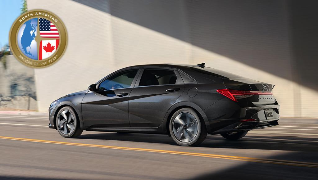 The 2021 #HyundaiElantra has won the 2021 North American Car of the Year award! So proud of our team and thanks to the #NACTOY jurors for awarding Elantra this title for the second time!