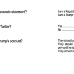 Image for the Tweet beginning: 𝟳𝟯% of Trump voters consider