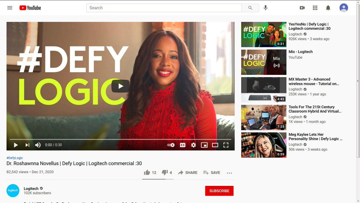 82,000+ have watched me share the story behind EnrichHER on YouTube 🙌🏾🙌🏾🙌🏾  I'm so excited to be part of the #defylogic campaign with @Logitech  youtu.be/J3sjZPrIN7A