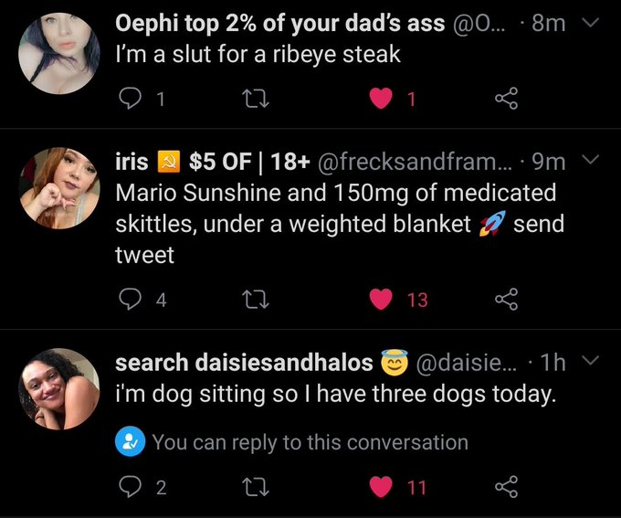 Everyone's having a better day than me 🥲 @OephiliaFace @frecksandframes  @daisiesandhalos 🤟🏽💚💜💛 https://t