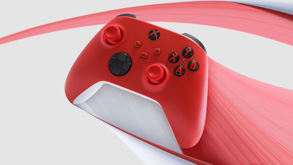 Love at first press.  Check out the new Xbox Wireless Controller Pulse Red: