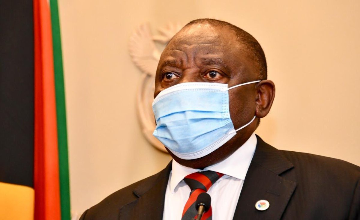 President Cyril Ramaphosa will address the nation tonight on developments in relation to the country's response to the Coronavirus pandemic. #COVID19SA #StaySafe #FamilyMeeting https://t.co/Mz6oa8EmxY
