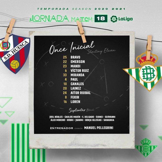 EreFgNGXcAEyFrx?format=jpg&name=small Alineaciones oficiales del Huesca-Betis - Comunio-Biwenger